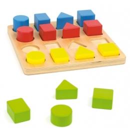 Jucarie educationala 4 forme, din lemn