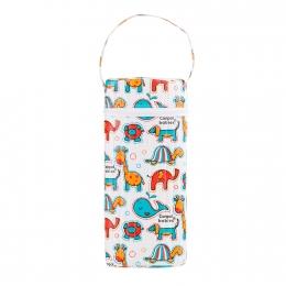"""Izolator din material moale pentru biberoane """"Colourful Animals"""" varianta 2, multicolor"""