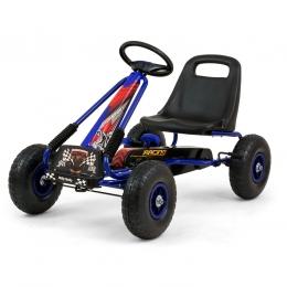 Go-Kart cu pedale si roti gonflabile, Thor Blue