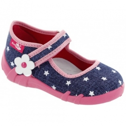 Pantofi Sandale Fetite, Roz Albastru, inchidere velcro, marca RenBut