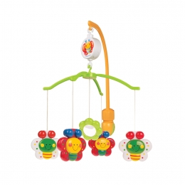 "Carusel muzical ""Fluturasi"", 0 luni +, multicolor"