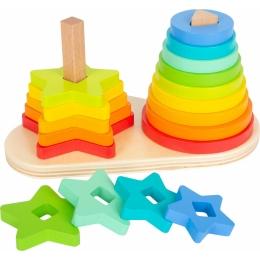 Potriveste Formele, joc din lemn curcubeu