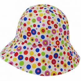 Palarie cu buline de vara pentru fetite 1-3 ani KidsDecor 50 cm
