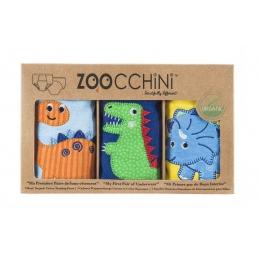 Set 3 Chilotei Antrenament, Zoocchini, Baiat, 3-4 ani, 100% Bumbac Organic, Dino