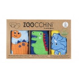 Set 3 Chilotei Antrenament, Zoocchini, Baiat, 2-3 ani, 100% Bumbac Organic, Dino