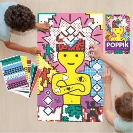 Joc creativ cu stickere Pop art, POPPIK