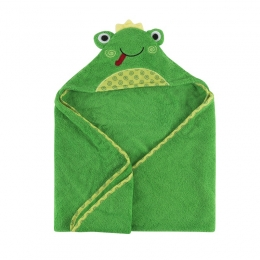 Prosop de baie cu gluga, Zoocchini, 70x70cm, Happy Frog