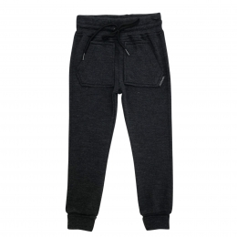 Pantaloni cu buzunare din lana merinos Dark Grey