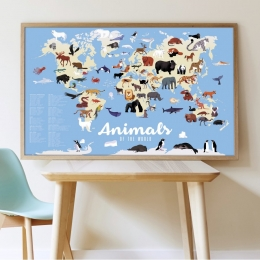 Joc educativ si creativ cu stickere Animalele lumii, POPPIK