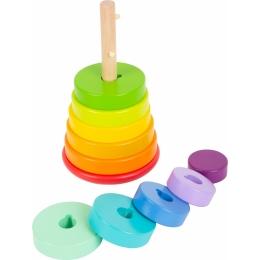 Potriveste Formele, joc din lemn curcubeu varianta XL