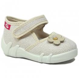 Sandale Fete, Bej, inchidere velcro, marca RenBut