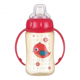 "Canita antrenament ""Cute Animals"", Canpol babies, 320 ml, rosu"