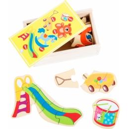 Set 5 puzzle-uri la cutie Primele jucarii