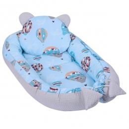 Baby Nest Multifunctional cu doua tipuri de material, Balloons