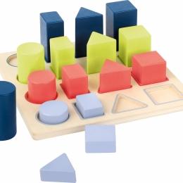 Forme si culori, puzzle 3D din lemn