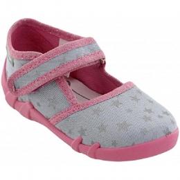 Sandale Fete, Gri Roz, inchidere velcro, marca RenBut