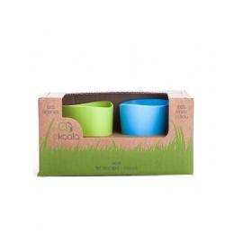 Set 2 pahare, eKoala, BIOplastic, Blue/Green