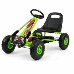 Go-Kart cu pedale si roti gonflabile, Thor Green