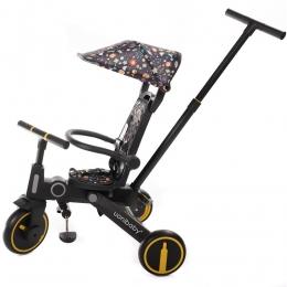 Tricicleta Uonibay 3 in 1, Pliabila si Reversibila - Cartoon