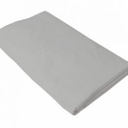 Cearceaf gri KidsDecor cu elastic patut copii 70x140 cm