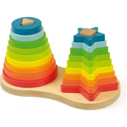 Set piramide curcubeu Montessori