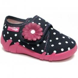 Pantofi Fetite, Rosu Negru, inchidere velcro, marca RenBut