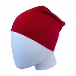 Caciula subtire dublata din lana merinos Dark Red