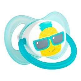 "Suzeta ""So Cool"" cu tetina simetrica silicon, Canpol babies, fara BPA, 6-18 luni, turcoaz"