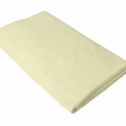 Cearceaf crem KidsDecor cu elastic patut copii 70x140 cm