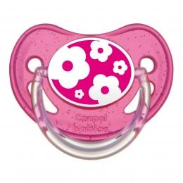 "Suzeta ""Nature"" cu tetina ortodontica silicon, Canpol babies, fara BPA, 18 luni +, roz"