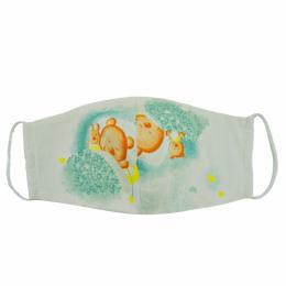 Masca faciala pentru copii din bumbac reutilizabila 2 straturi Bears dream blue