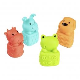 Set 4 jucarii pentru baie, fara BPA, multicolor