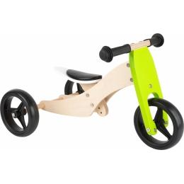 2 in 1 Tricicleta si Bicicleta din lemn