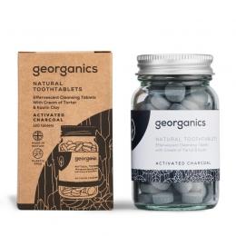 Pasta de dinti tablete charcoal, GEORGANICS
