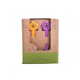 Set suport de prindere baveta, eKoala, Orange/Purple