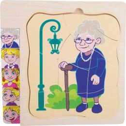 Puzzle - etape din viata bunicii mele