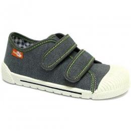 Pantof Baieti, marca RenBut, cu inchidere velcro, Gri
