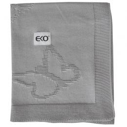 Paturica din Bumbac, Eko, 80x100 cm, Fluturasi, Grey