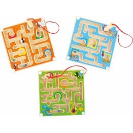 Labirintul magnetic cu bilute colorate