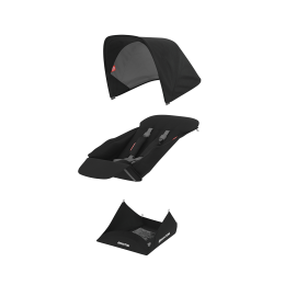 Set Materiale Textile Greentom Reversible, Black