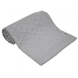 Paturica din Bumbac, Eko, 80x100 cm, Carouri, Grey