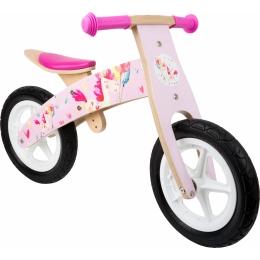 Bicicleta de echilibru din lemn Unicornul Roz