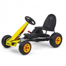 Kart cu pedale pentru copii, Viper Yellow