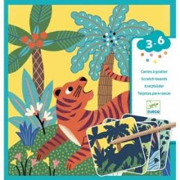 Set creativ de razuit Djeco, Animale mari pentru cei mici