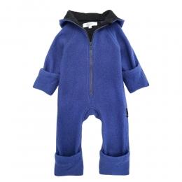 Overall dublat din lana fiarta Persian Blue