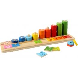 Joc de numarat Inele colorate