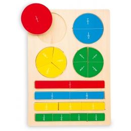 Puzzle din lemn Intreg, Jumatate, Sfert
