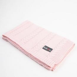 Paturica tricotata pentru bebelusi 90x65 cm, Pink