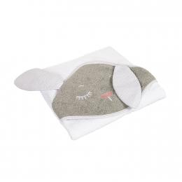 Prosop cu gluga 100% bumbac, 100 × 100 cm Bunny