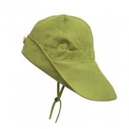 Palarie ajustabila din in organic Moss Green